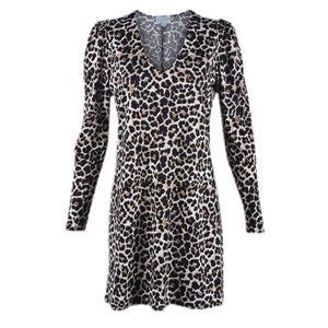 Veronica M. Cheetah Print Shift Dress